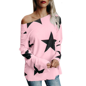 Ежедневна дамска блуза с цветна апликация в няколко цвята