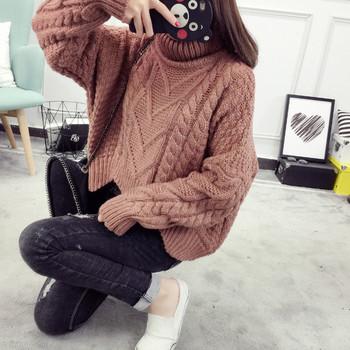Дамски модерен пуловер в различни цветове - свободен модел