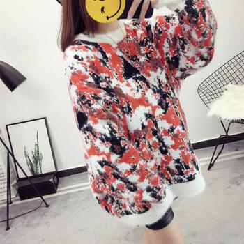 Дамски широк пуловер в няколко цвята