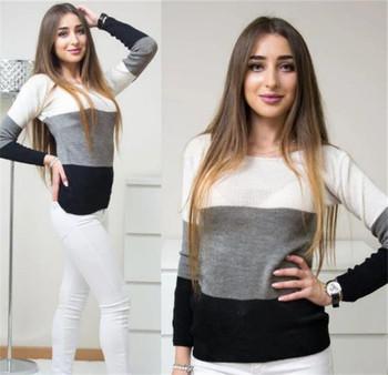Дамски ежедневен пуловер в няколко цвята